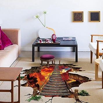Fuibo 3d Flammende Kunst Wohnzimmer Boden Wandaufkleber Abnehmbare