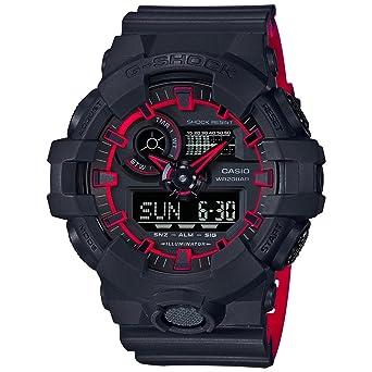 e2d5d8657aa7 Amazon.com  Casio GA700SE-1A4 Black 53.4mm Resin G-Shock GA-700 ...