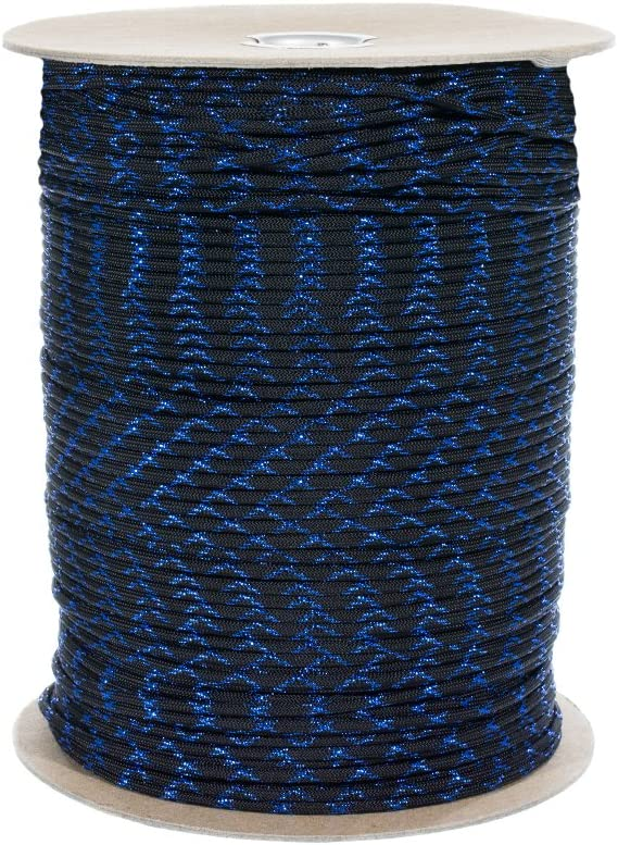 and Silver Lengths of 10 Green 50 Blue Gold 25 Add Some Shine to Your Next Paracord Project PARACORD PLANET Metallic 550 Paracord with Sparkle Tracers and 100 Available in Red