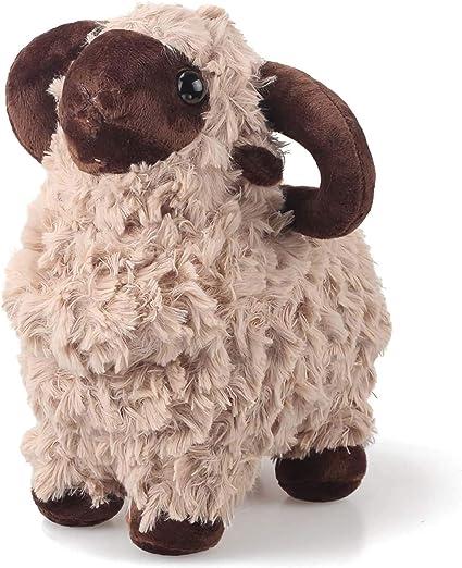 Warm Yellow Cute Lamb Plushie Animal LAMONDE Stuffed Sheep Goat Plush