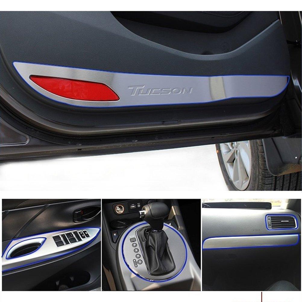 Vosarea 4 MM /× 5 Mt DIY Universal Automobil Auto Motor Interior Exterior Dekoration Klebstoff Aufkleber Moulding Zierstreifen Linie Gelb