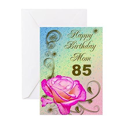 Amazon Cafepress 85th Birthday Card For Mom Elegant Rose