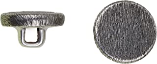 product image for C&C Metal Products 5051 Flat Florentine Metal Button, Size 45 Ligne, Antique Nickel, 36-Pack
