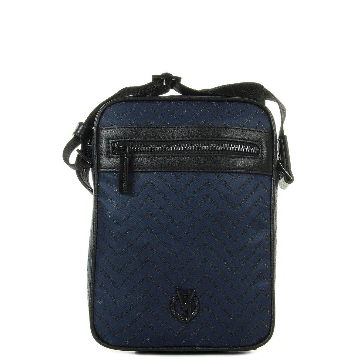 versace jeans e1yrbb 3270088 metal logo black leather side bag super  popular 1dd16 e2372 727fce50ad325