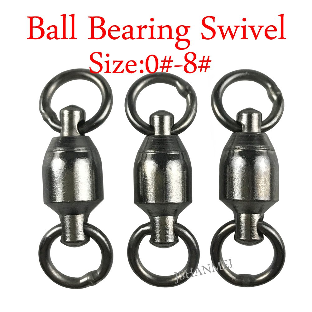 Ball Bearing Fishing Trolling Swivel Strong Ring High Strength Connector