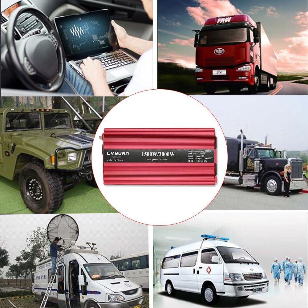 1500//3000W 12V DC TO 120V AC Car Vehicle Truck Automotive POWER INVERTER OEM NEW