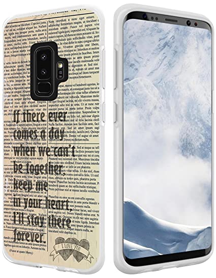 Amazon Com S9 Plus Case Quotes About Love Hungo Compatible Soft