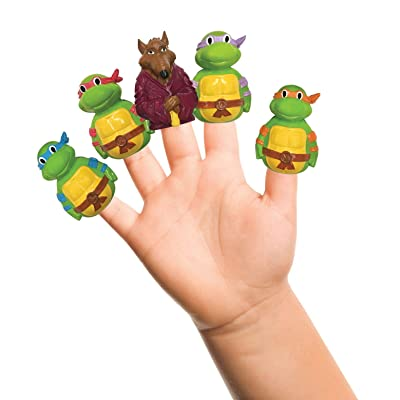 Nickelodeon TMNT Finger Puppets - Party Favors, Educational, Classroom Rewards, Bath Toys : Baby