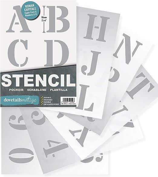 Wandschablone Schriftschablone Schablonen Malerschablone Großbuchstaben 2-20cm