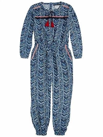 11034581d42 PEPE JEANS - Combinaison imprimé bleu manches longues ado fille pepe jeans