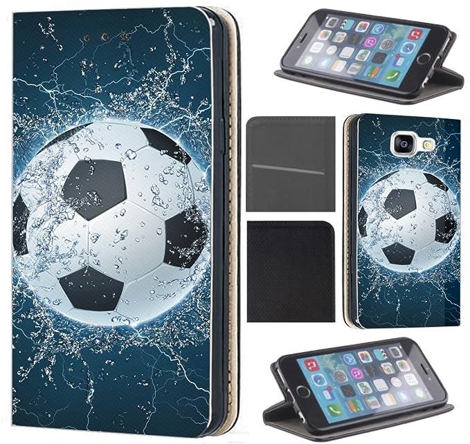 CoverFix Premium Hülle für Samsung Galaxy A5 (Modell 2017) A520 Flip Cover Schutzhülle Kunstleder Flip Case Motiv (1391 Fussb