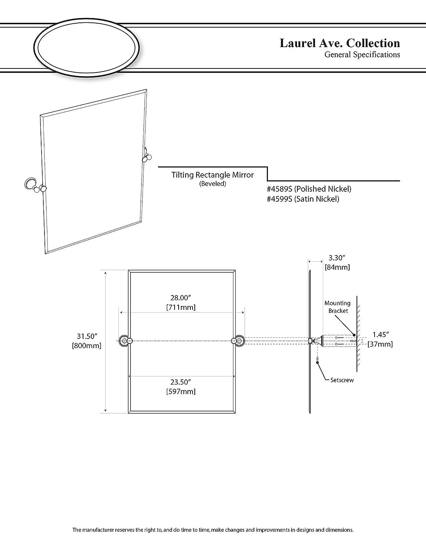Amazon.com: Gatco 4589s Laurel Avenue Espejo de pared ...