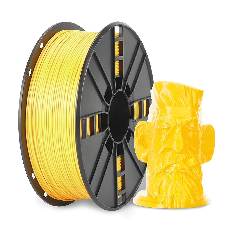 NOVAMAKER PLA Plus (PLA+) Filament 1.75mm with 20g Cleaning Filament, Yellow PLA Pro 3D Printer Filament Toughness Enhanced, Premium PLA 1kg Spool(2.2lbs), Dimensional Accuracy +/- 0.03mm