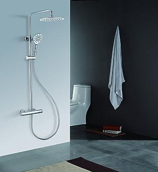 Duschsystem Regendusche mit Thermostat Duschpaneel Regenbrause Handbrause Dusche