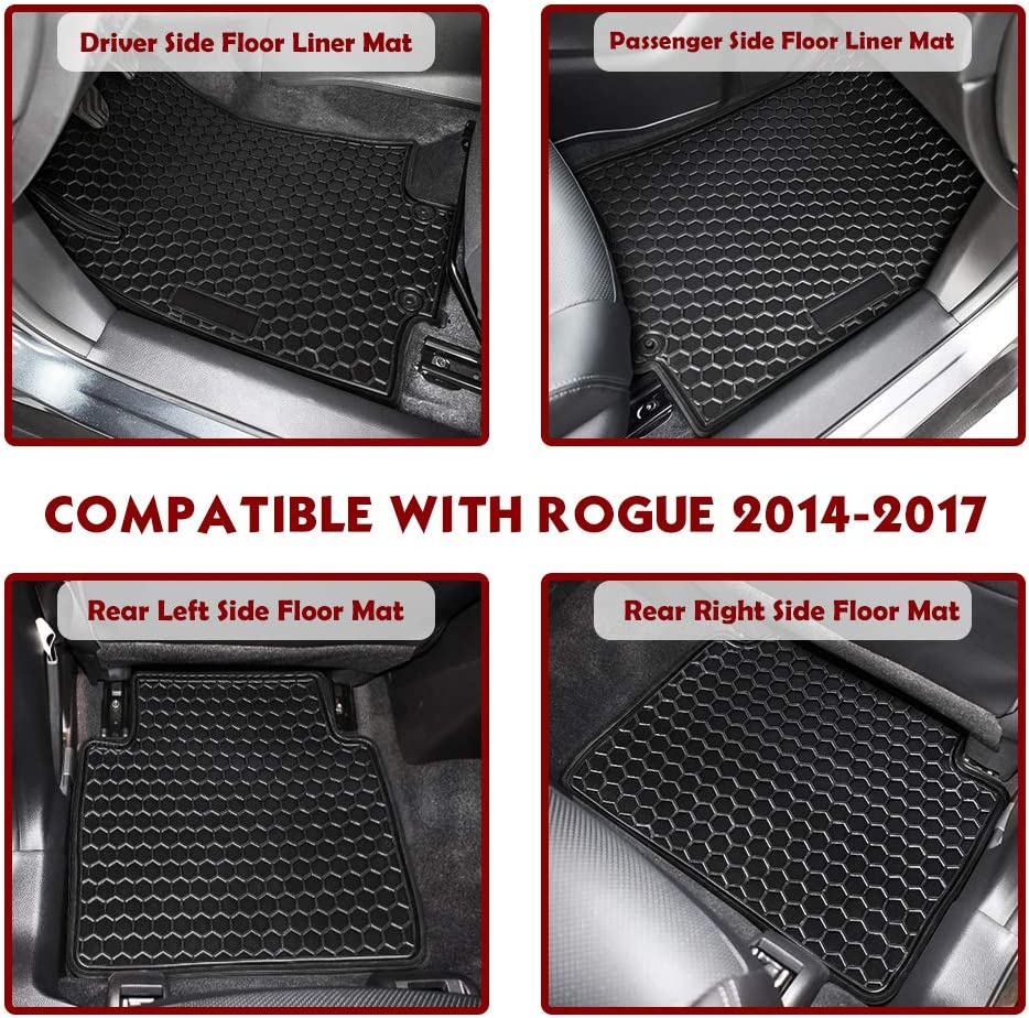 4PCS TeddyTT Floor Mats Compatible with BMW 3 Series 2014 2015 2016 2017 Heavy Duty Rubber Front/&Rear Car Carpet Waterproof Custom Seasons Odorless All Weather Prevent Dirt from Entering