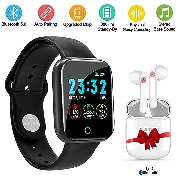 DUODUOGO Smartwatch Reloj Inteligente, Pulsera Deportiva Monitor Impermeable Bluetooth Multifunción Presión Arterial Frecuencia cardíaca Oxígeno ...