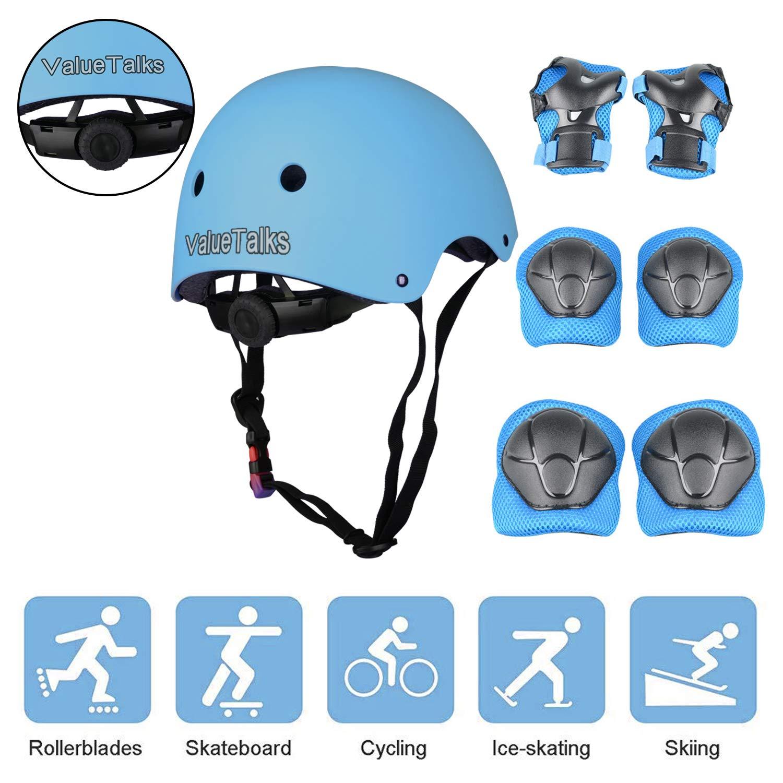 【送料関税無料】 ValueTalks子供用保護具セット、子供用調整式ヘルメット、ニーパッド、肘パッド、およびスケートボード用リストパッドローラースケートサイクリングローラーブレード B07555BVGZ, BAGAZIMURI(バガジモリ):77ceb4b1 --- a0267596.xsph.ru