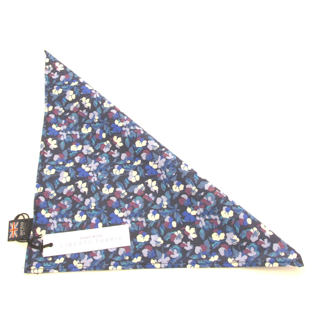Berries Liberty Print Cotton Pocket Square by Van Buck