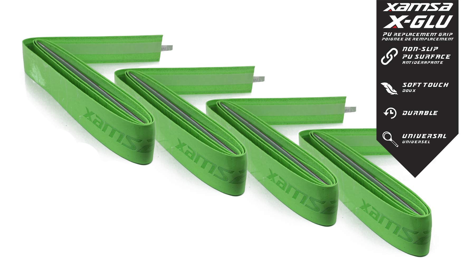 4-Pack of Xamsa X-GLU Replacement Grip - Green/Lime