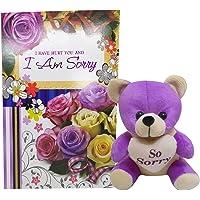 Natali Sorry Gift for Girlfriend or Boyfriend Sorry Greeting Card & Sorry Teddy Bear