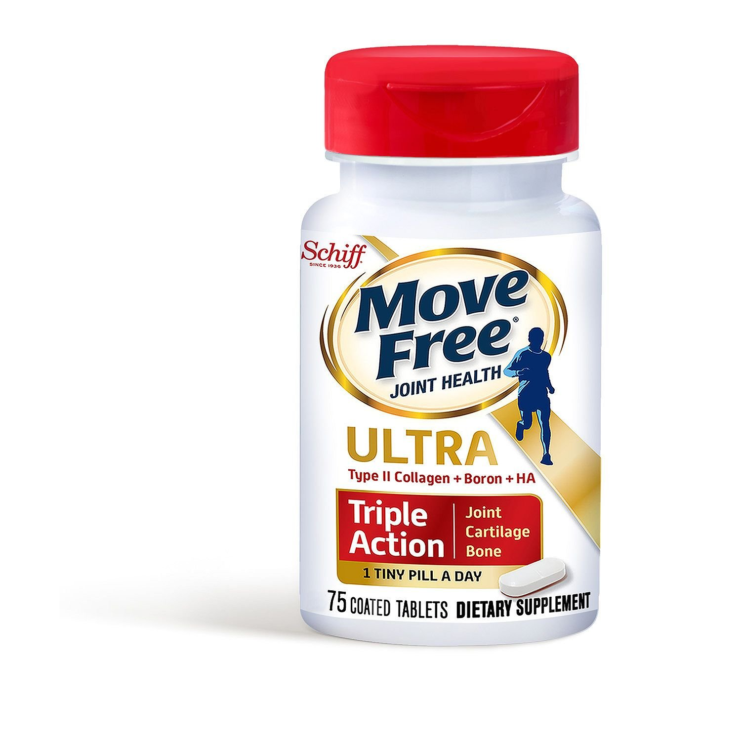 Schiff Move Free Ultra Triple-Action Tablets (75 count) (pack of 6)