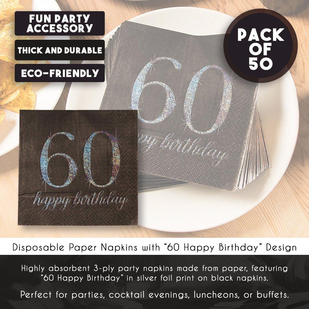 "10 /""Happy Birthday/"" 3ply paper napkins"