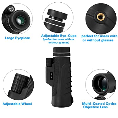 Occer 10X42 High Power Monocular Telescope HD Dual Focus Scope Details