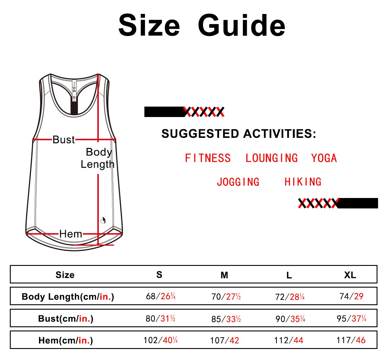 icyzone Workout Yoga Fitness Sports Racerback T-Back Tank Top for Women (M, Black)