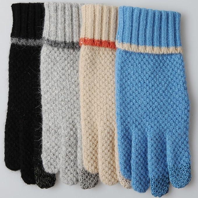 Amazon Elma Ladies Five Finger Wool Knitted Winter Gloves
