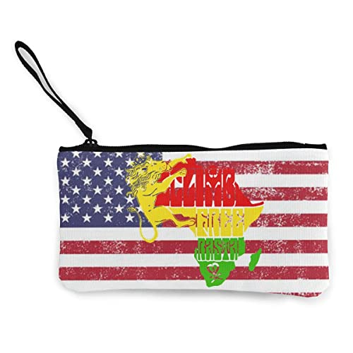 Amazon.com: Rasta Lion - Monedero unisex de lona, monedero ...