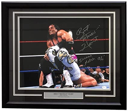 d7760a3c8fa Bret Hart Signed Framed WWE WrestleMani XII HBK 16x20 Photo Iron Man 96 -  JSA Certified - Autographed Wrestling Photos at Amazon s Sports  Collectibles Store