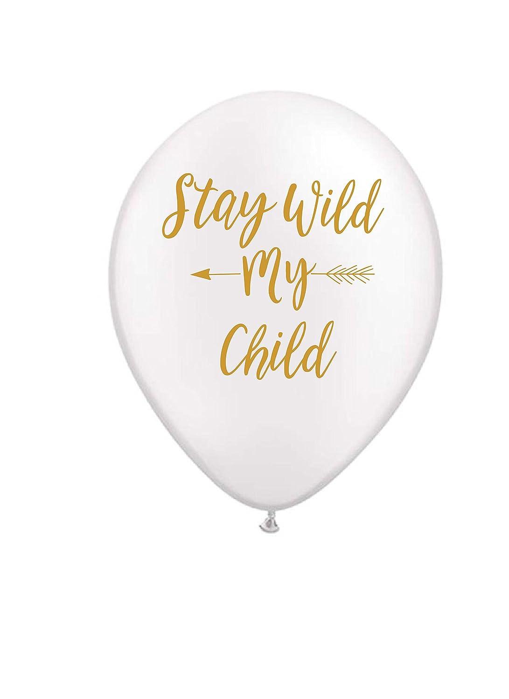 Amazon.com: Stay Wild mi hijo, globos, color blanco ...