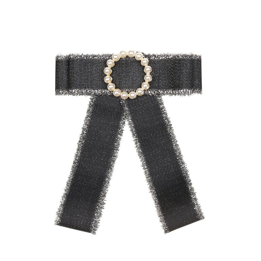Anstecker Pin Schleife schwarz