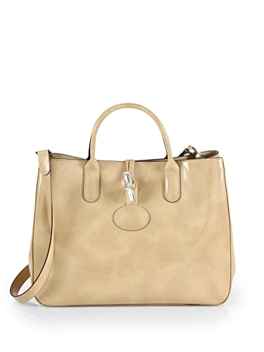 Image Unavailable. Image not available for. Color  Longchamp Small Roseau  Patent Ecru Beige Leather Silver Hardware Original Authentic Bag 6cd060dc21