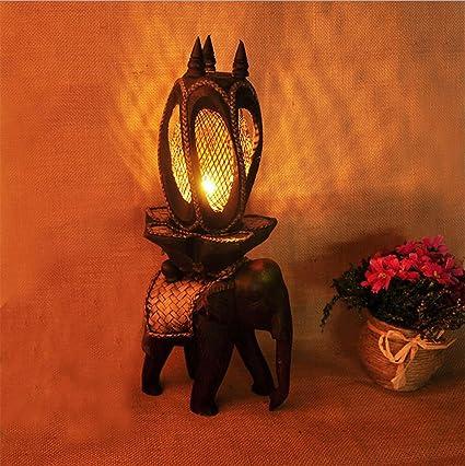 OOFAY LIGHT Lámpara De Mesa Teca Elefante Creativo Hotel ...