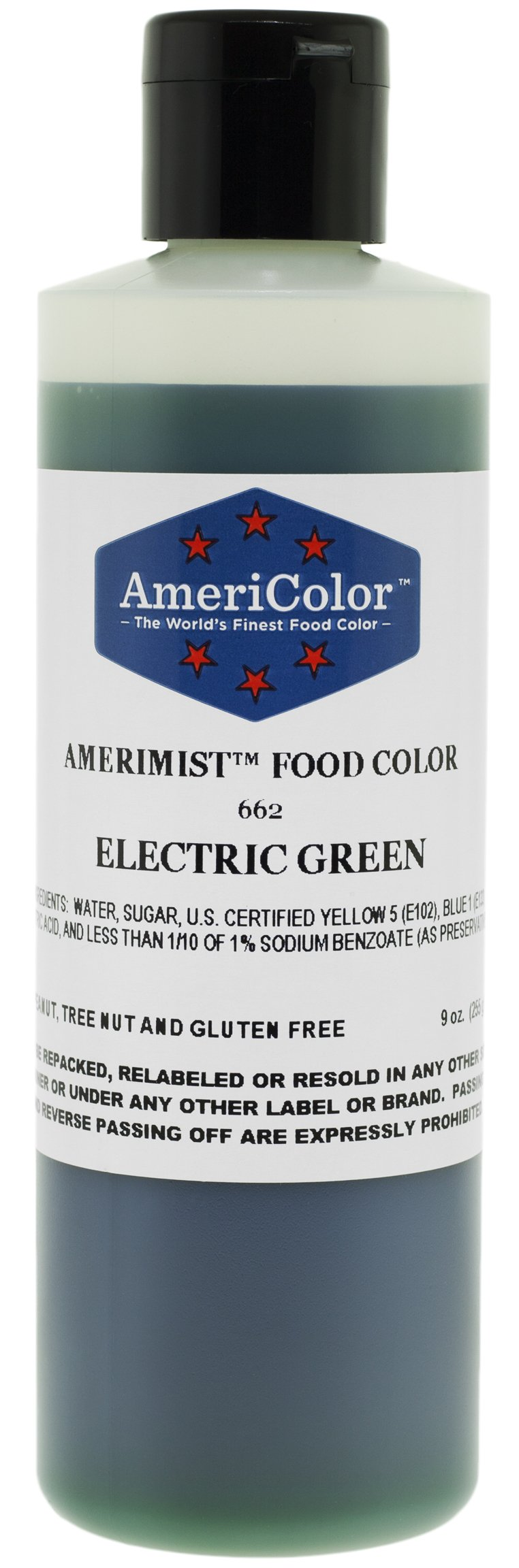 AmeriColor AmeriMist Electric Green Airbrush Food Color, 9 oz