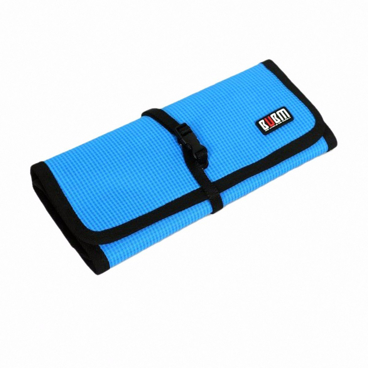 BUBM Durable Waterproof Wrap Electronics Accessories Travel Organizer /USB Hard Drive Bag/Cable Stable/ Baby Healthcare Kit(Large-Lake Blue)
