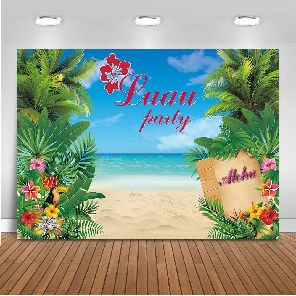 OFILA Tropical Night Backdrop 10x12ft Summer Carnival Background Beach Festival Photos Caribbean Coast Shoots Paradise Island Traveled Party Photos Bridal Shower Photos Props