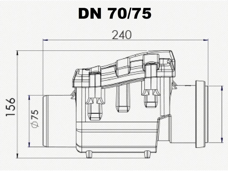 Bouchon anti-retour DN75 avec clapet anti-retour en acier inoxydable clapet anti-retour DN 75