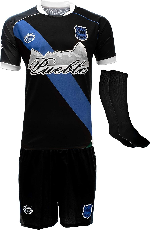 Arza Sport Puebla Mexico Uniform Color Black/Blue Jersey,Short,Socks and Number