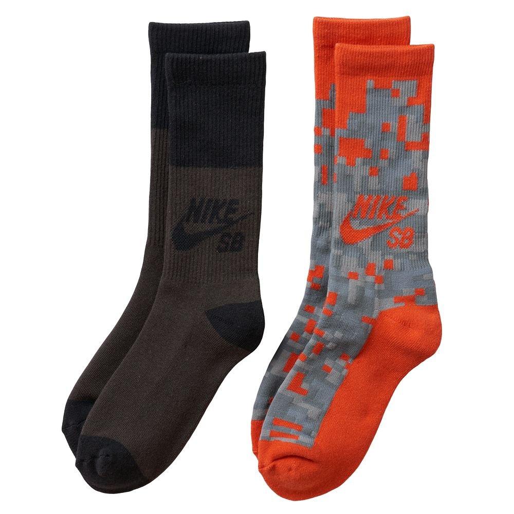 Nike SB Boys Youth 2-Pack Crew Socks (Medium/5Y-7Y)
