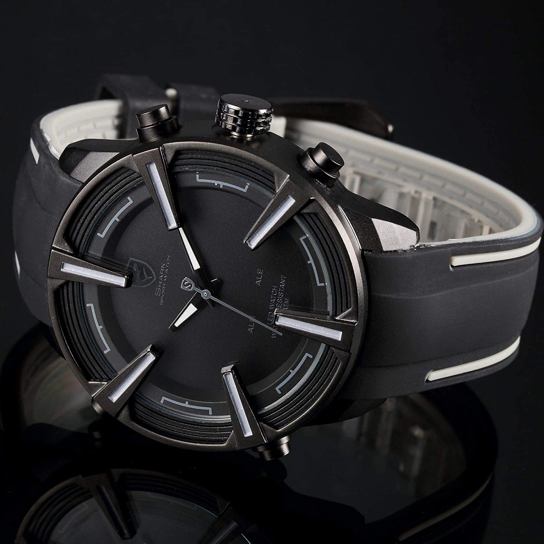Shark SH388 - Reloj, Correa de Silicona Color Negro: Amazon ...