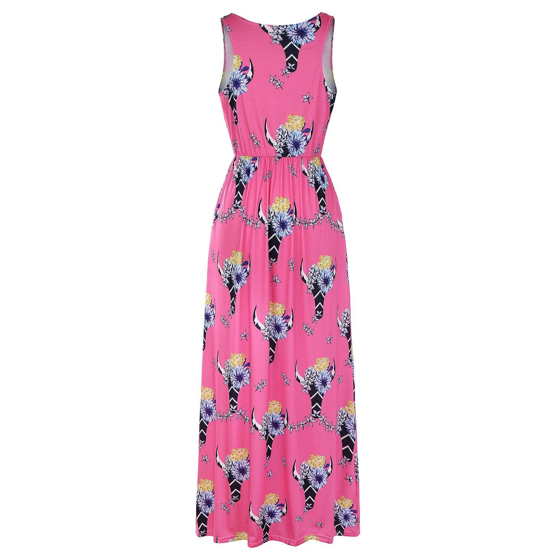 Amazon.com: Yunchuang - Vestido de verano para mujer con ...