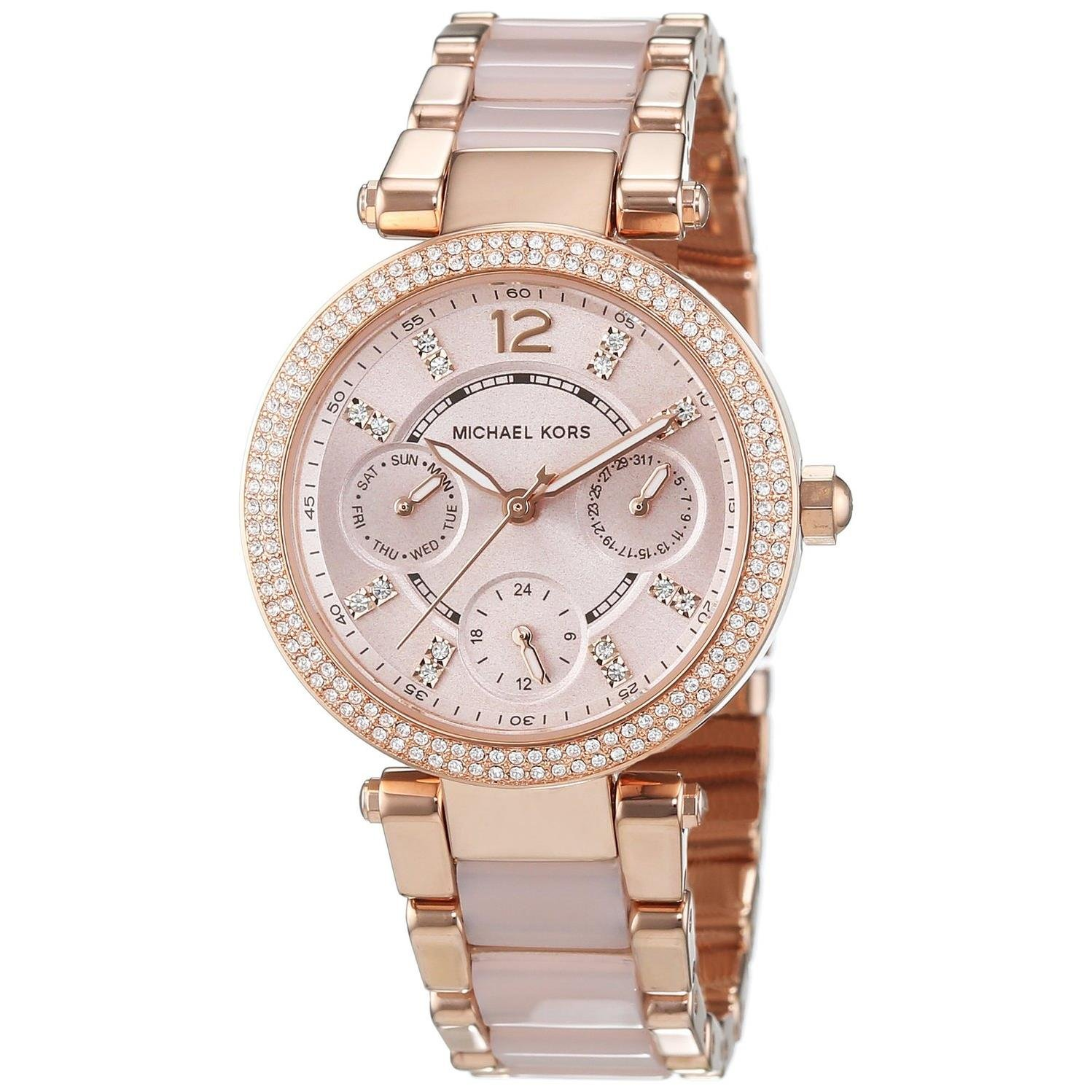 Michael Kors Mini Parker Analog Gold Dial Women's Watch - MK6110