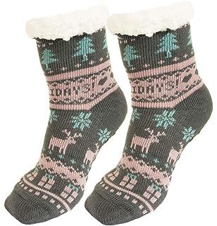 Ferocity Mujer Calcetines térmicos ricos en algodón para resbalón para el invierno [033]