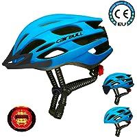 Cairbull Casco, Unisex Adulto Casco de Ciclismo Equipado con luz LED/Visera/Gafas de Sol