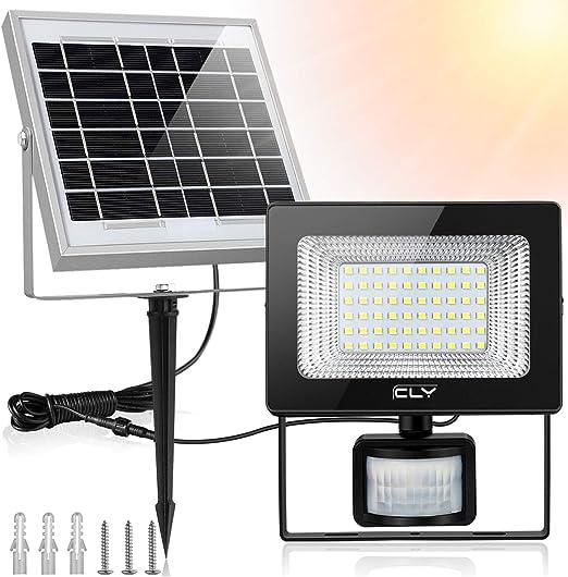 4X Solarleuchte LED Solarlampe mit  Bewegungsmelder Außen Fluter Sensor Strahler