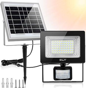 CLY Foco LED Solar con Sensor de Movimiento, Foco Solar LED Exterior, Luz Solar 60LED 6500K 400Lumens IP66 Impermeable, para Jardín, Patio, Garaje, Camino, Terraza: Amazon.es: Bricolaje y herramientas