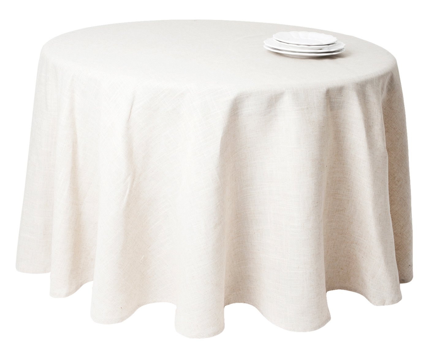 SARO LIFESTYLE 731 Toscana Tablecloths, 132-Inch, Round, Natural
