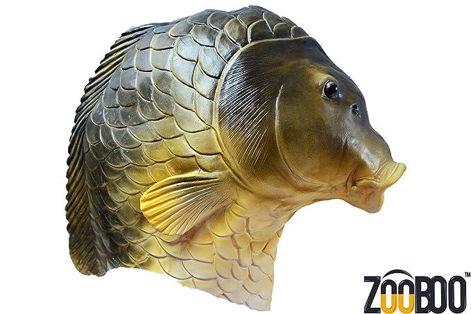 Amazon.com: ZooBoo Creepy Fish full head Mask Halloween Costume ...